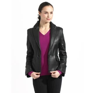Women's Lambskin Leather Blazer Jacket|https://ak1.ostkcdn.com/images/products/11953714/P18840180.jpg?impolicy=medium