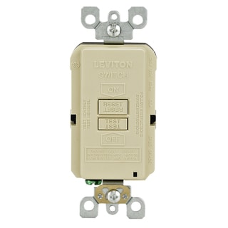 Leviton 001-GFRBF-00I 20 Amp Ivory SmartlockPro Self-Test GFCI