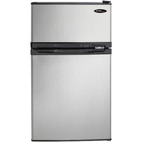 Danby DCR031B1BSLDD Designer Black 3.1-cubic-foot Compact Dual-Door Refrigerator/Freezer