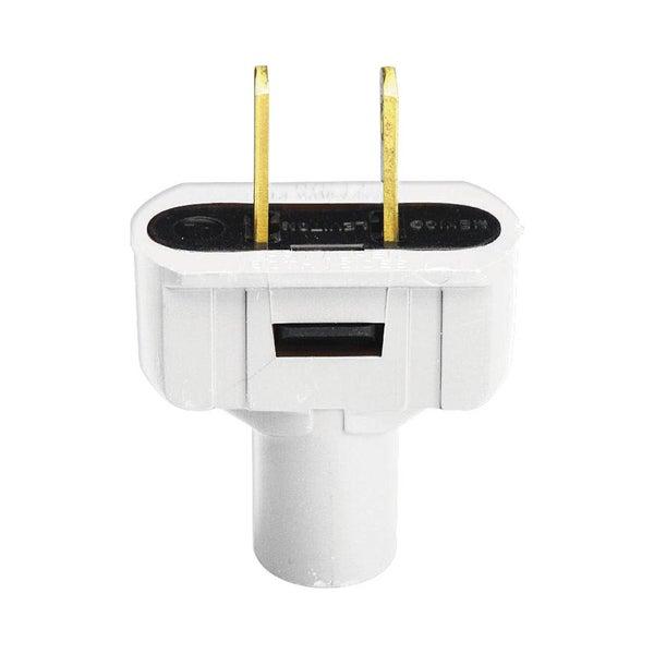 Leviton 001-48643-W White Residential Grade Straight Blade Non-Polarized Plug