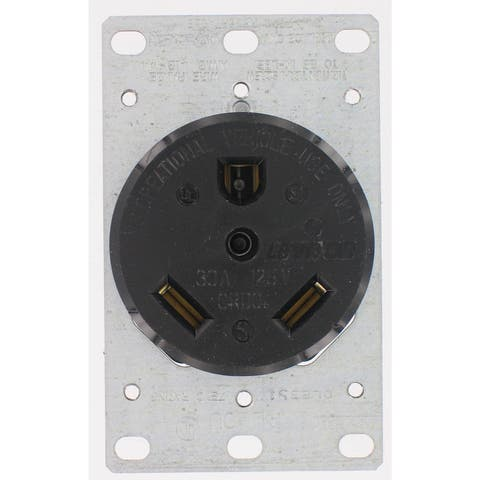 Leviton 000-7313 Industrial Grade Straight Blade Flush Mount Receptacle