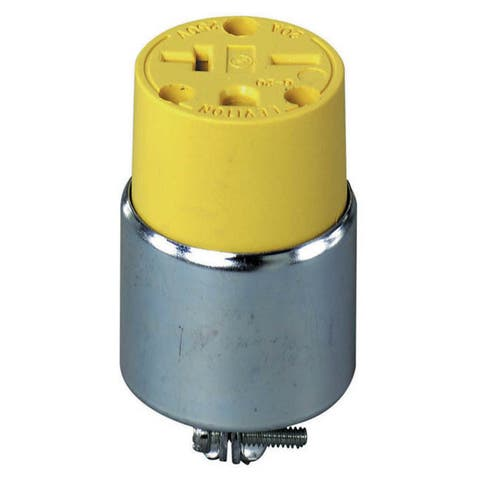 Leviton 000-620CA-000 Commercial Grade Straight Blade Armored Connector