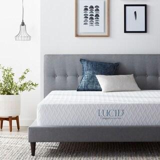 LUCID Comfort Collection 10-inch King-size Plush Gel Memory Foam Mattress