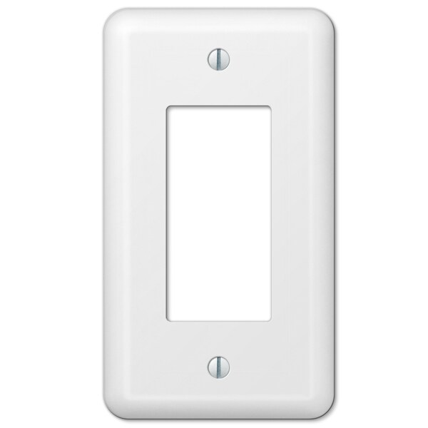 Amertac 935RW 1 Rocker Colours White Steel Wallplate