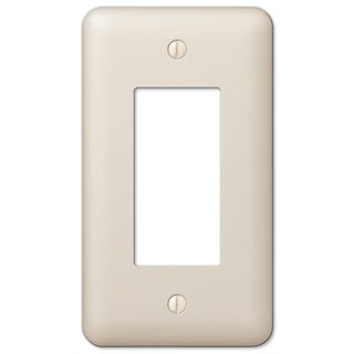Amertac 935RAL 1 Rocker Colours Almond Steel Wallplate
