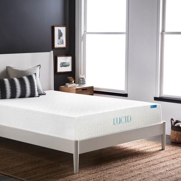 LUCID Comfort Collection 10-inch Queen-size Plush Gel Memory Foam Mattress