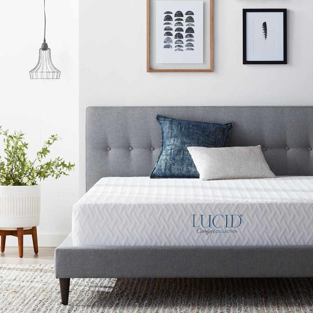 LUCID Comfort Collection 10-inch SureCool Luxury Gel Memory Foam Mattress