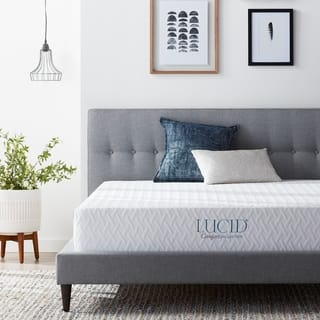 LUCID Comfort Collection 10-inch SureCool Luxury Gel Memory Foam Mattress