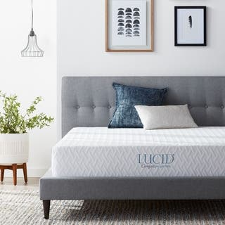 LUCID 10-inch Queen-size Plush Gel Memory Foam Antimicrobial Mattress|https://ak1.ostkcdn.com/images/products/11953780/P18840201.jpg?impolicy=medium