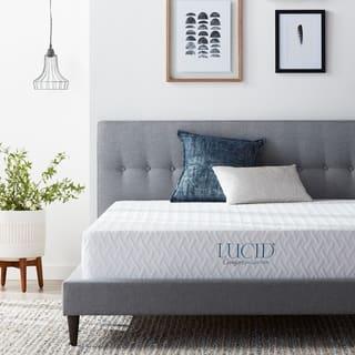 LUCID Comfort Collection 10-inch SureCool Gel Memory Foam Mattress