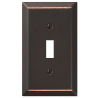 Amertac 163TDB 1 Toggle Aged Bronze Steel Wallplate