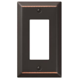 Amertac 163RDB 1 Rocker Aged Bronze Traditional Steel Wallplate