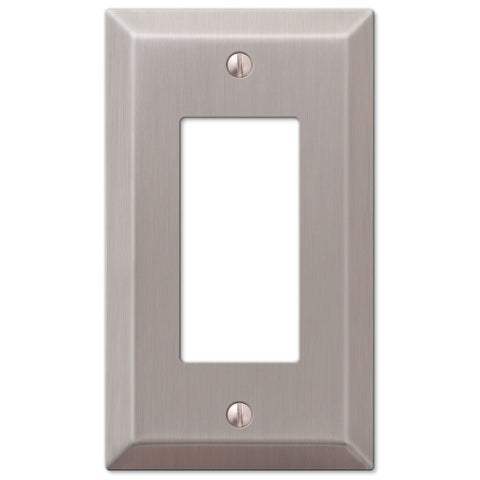 Amertac 163RBN 1 Duplex Brushed Nickel Wall Switch Plate