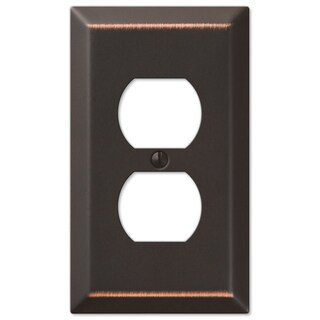Amertac 163DDB 1 Duplex Aged Bronze Wall Switch Plate