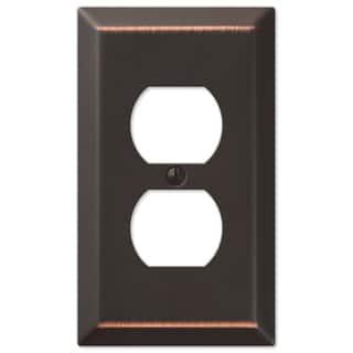 Amertac 163DDB 1 Duplex Aged Bronze Wall Switch Plate|https://ak1.ostkcdn.com/images/products/11953808/P18840149.jpg?impolicy=medium