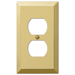 Amertac 163DBR 1 Duplex Polished Brass Wall Switch Plate
