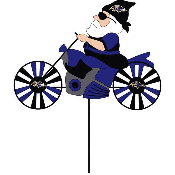Baltimore Ravens Blue/Black/White Metal Wind Spinner