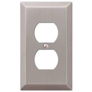 Amertac 163DBN 1 Duplex Satin Nickel Wall Switch Plate|https://ak1.ostkcdn.com/images/products/11953815/P18840151.jpg?impolicy=medium