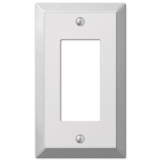 Amertac 161R 1 Rocker Polished Chrome Traditional Steel Wallplate