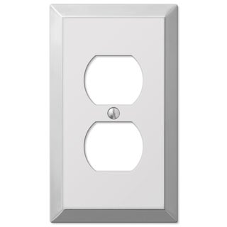 Amertac 161D 1 Duplex Polished Chrome Traditional Steel Wallplate