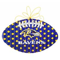 Baltimore Ravens Blue, Gold and White Metal Wall Decor