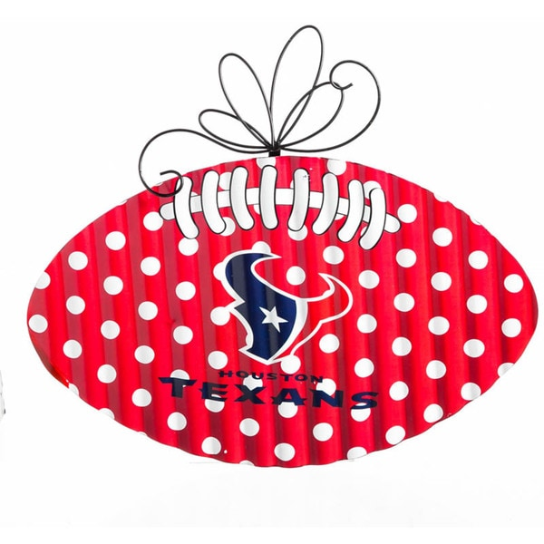 Houston Texans Metal Football Door Decor Football