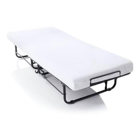 LUCID Memory Foam 4-inch Rollaway Guest Bed