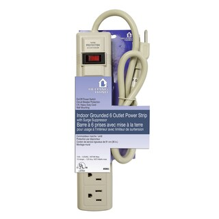 Helping Hand 85061 White 6 Outlet Surge Protector