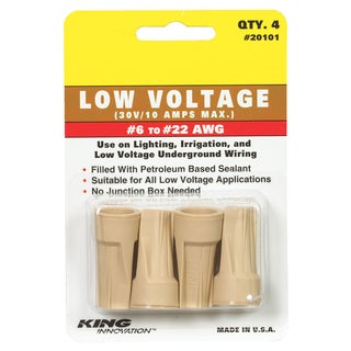 King Safety Products 20101 Tan Underground Wire Connectors 4-count