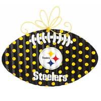 Pittsburgh Steelers Metal 17.8-inch x 20-inch Football Door Decor