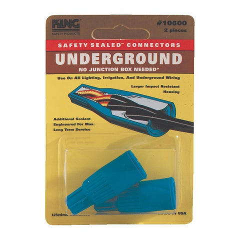 King Safety Products 10600 Blue Underground Wire Connectors 2-count