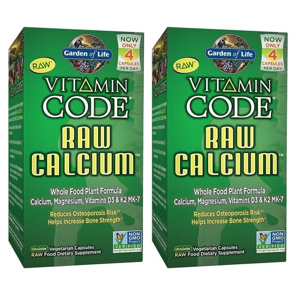Garden of Life Vitamin Code Raw Calcium (120 Vegetarian Capsules ...