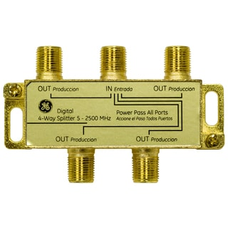 GE Lighting 87625 4-Way Digital Signal Splitter