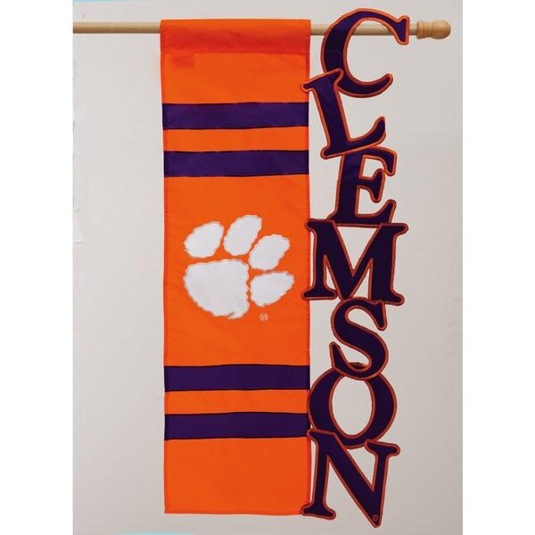 Clemson University Tigers Sculpted Flag