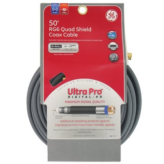 GE Jasco 87667 50' RG6 Quad Shield Coax Cable