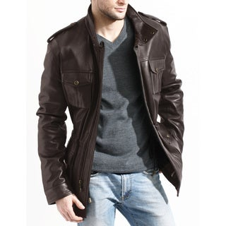 Men's Brown Lambskin Leather Jacket