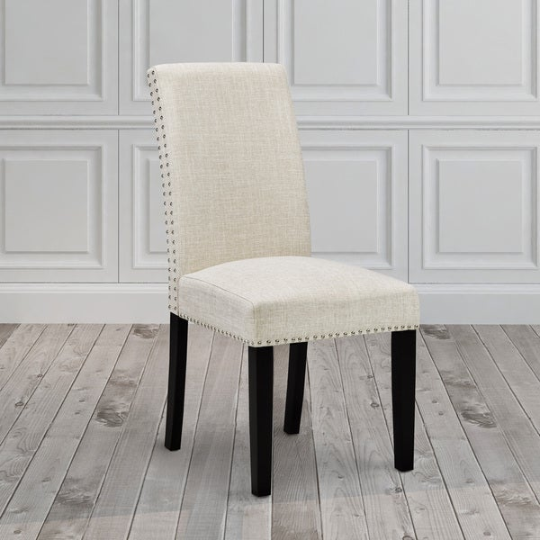 Shop Uptown Club Fabric/Wood Nailhead Upholstered Dining Room Chair ...