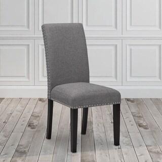 Savio Fabric Stud Chair (Set of 2)