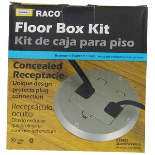 Hubbell Raco 6239SS Stainless Steel Concealed Receptacle Floor Box Kit