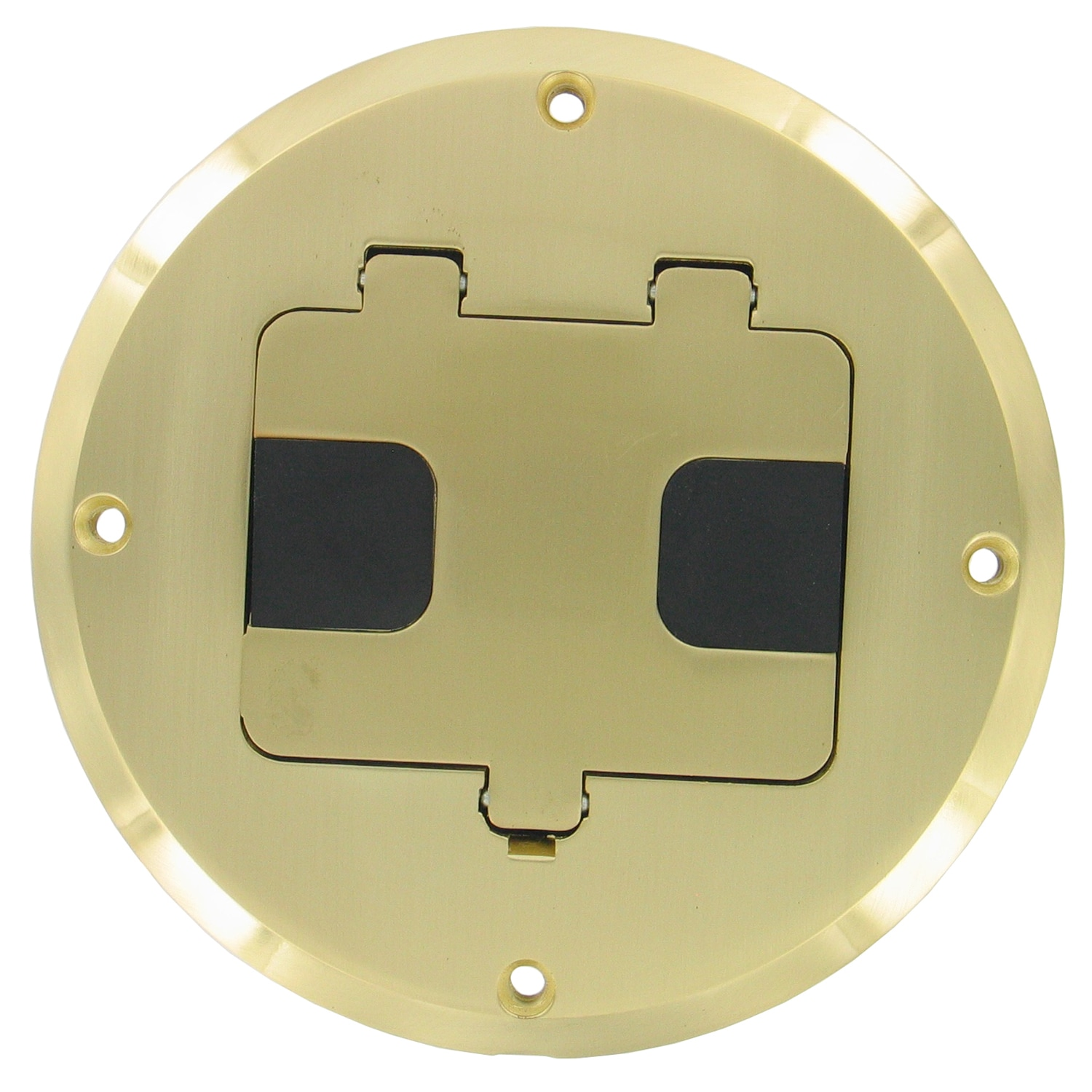 Raco 5 5 16 In H Round 1 Gang Floor Box 1 2 In Brass