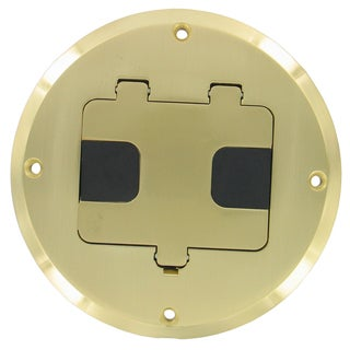 Raco 5-5/16 in. H Round 1 Gang Floor Box 1/2 in. Brass Steel