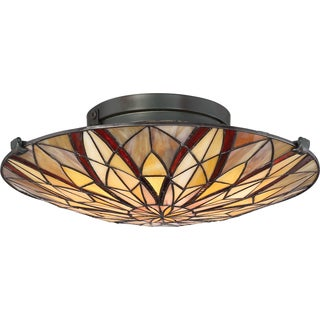 Quoizel Victory Tiffany-style Flush Mount Light Fixture