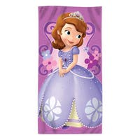 """Sofia the First """"""""Floral Damask"""""""" Beach Towel"""