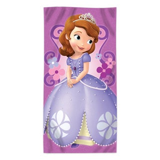 "Sofia the First """"Floral Damask"""" Beach Towel"