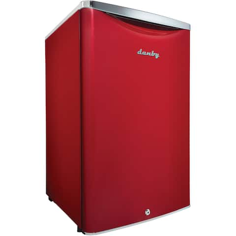 Danby DAR044A6LDB Scarlet Red 4.4-cubic Foot Contemporary Classic Compact Refrigerator