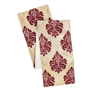 Multicolor Polyester Celebration Jute Damask Print Table Runner
