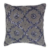 Celebration Mosaic Beaded Polyester 10-inch x 10-inch Throw Pillow