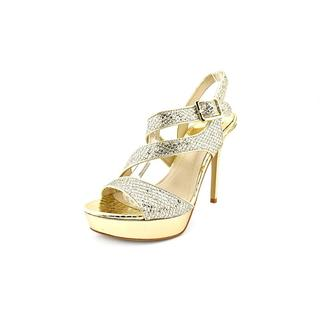 Marc Fisher Women's Ulimas 3 Gold Synthetic Dress Sandals