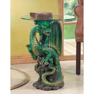 Sculptured Dragon Accent Table