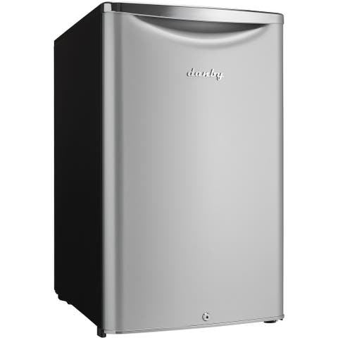 Danby DAR044A6DDB Silver 4.4-cubic-foot Contemporary Classic Compact Refrigerator
